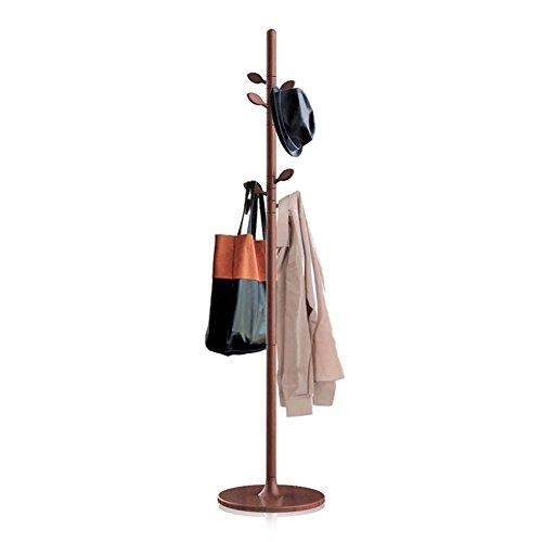 TEHWDE houten kapstok natuurlijke gang boom jas rek stand gratis staan met 7 haken 360 & deg rotatie hoogte verstelbaar voor entree hal slaapkamer kantoor hoogte 68,9 in 3 kleuren