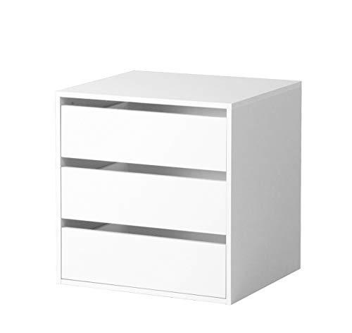 Composad CT9301K15005 Cassettiera Interna (3 unità) in Legno di Colore Bianco, 51 x 58 x 59 cm, 51x58x59 cm