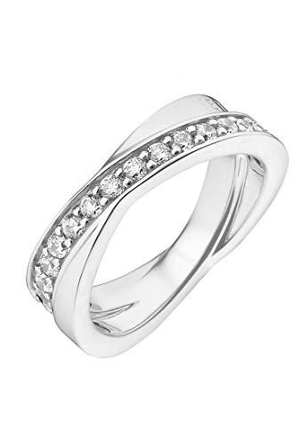 JETTE Silver Damen-Damenring 925er Silber 31 Zirkonia 59 Silber 32005224