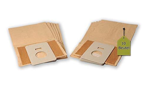 eVendix Staubsaugerbeutel kompatibel mit GoldStar Turbo 3000, 10 Staubbeutel + 2 Mikro-Filter, kompatibel mit Swirl H28