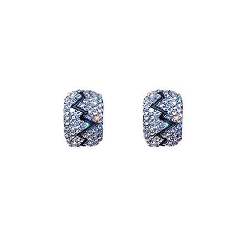 Verzorging eenvoudige bezaaid met diamanten oorclip oorbellen vrouwelijke temperament wilde retro oorbellen bloem oorbellen vrouwelijke