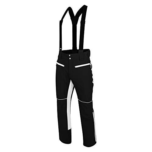 Dare 2b Herren Intrinsic Pant Waterproof & Breathable Ergonomic Fit AEP Kinematics Ski & Snowboard Salopette Trousers with Integrated Snow Gaiters Lifthose, schwarz/weiß, L