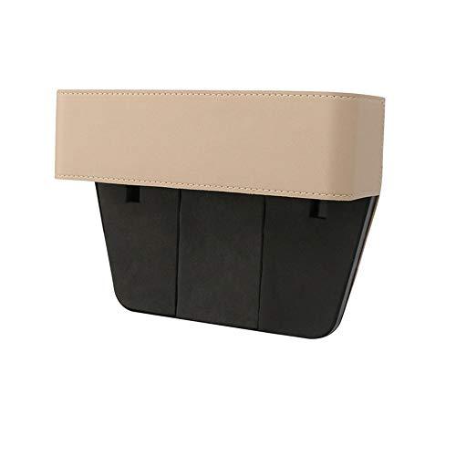 Asiento de Grieta Caja de almacenamiento de espacio de asiento de coche, caja Organizador lateral de asiento de automóvil, Organizador de almacenamiento a prueba de fugas de cuero Para Accesorios Auto