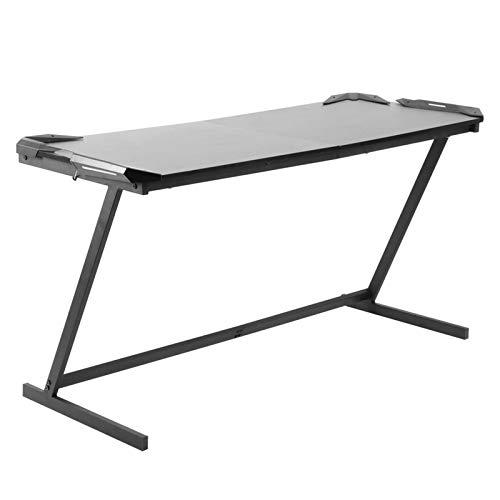 Ausla Escritorio, pequeña mesa para ordenador, mesa de oficina de estilo industrial, 150 x 60 x 77,5 cm, mesa de trabajo para espacios pequeños, marco de metal estable, fácil de montar