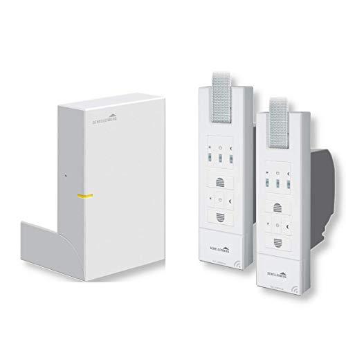 Schellenberg Smart Home Zentrale SH1 inklusive 2x ROLLODRIVE 65 Premium Funk-Gurtwickler | 45 Kg Zugkraft, Unterputz