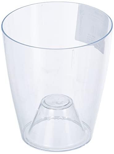 vaso per orchidea Greemotion Ornella, vaso per fiori trasparente, fioriera per orchidee in plastica, vaso per fiori Dimensioni: circa Ø 11 x H 12 cm