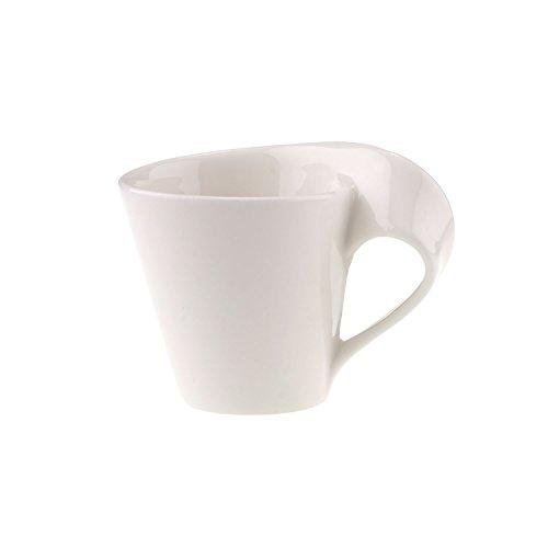 Villeroy & Boch NewWave Caffè Espressotasse, 80 ml, Premium Porzellan, Weiß