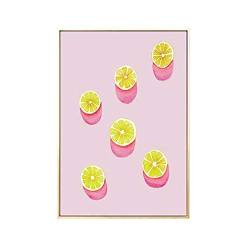 Aquarell Abstrakt Obst Zitrone Kaktus Leinwand Malerei Eis am Stiel Wandbilder Motto Poster und Print Home Decoration Ungerahmt