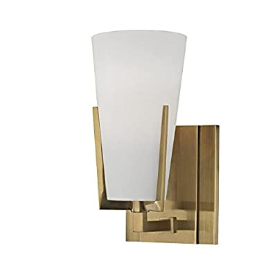 Upton 2-Light Vanity Light - Polished Chrome Finish with Frosted Mouth-Blown Glass Shade