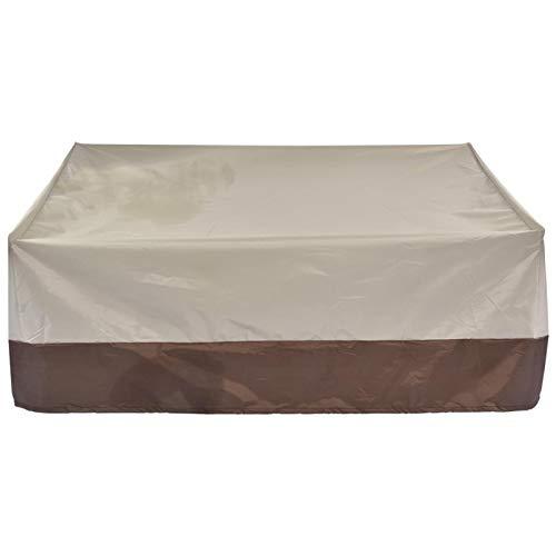 Erfula Cubierta de Banco de salón Loveseat para Exteriores Impermeable Antimoho y Humedad Cubierta de Muebles a Prueba de Polvo Resistente a los Rayos UV del Patio del césped richly