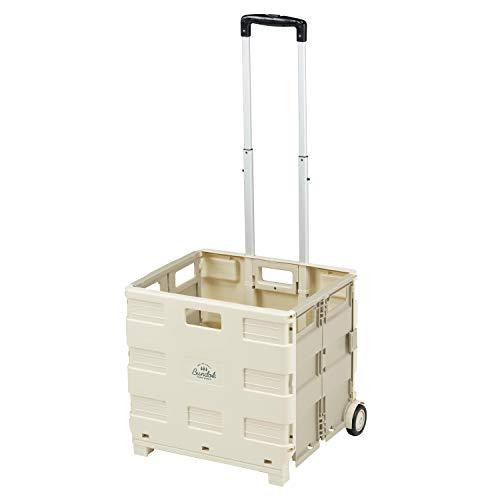BUNDOK(バンドック) ボックス キャリー カート BD-318BE 折りたたみ式 耐荷重30kg ベージュ