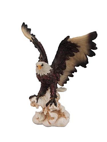 KLP Weißkopf Adler Vogel Eagle Seeadler Deko Garten Tier Figur Raubvogel Stein Fels