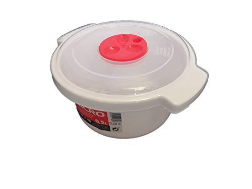 LCQI Behälter zum Kochen von Mikrowellen 0,5 weiß