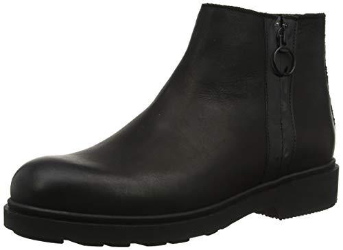 Tommy Hilfiger Herren Casual Nubuck Zip Boot Klassische Stiefel, Schwarz (Black 990), 42 EU