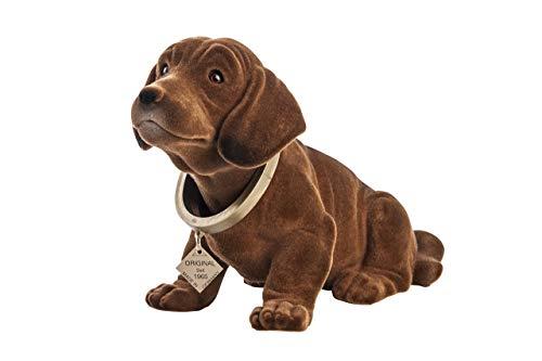Rakso Kunststofferzeugnisse Original 100a Wackeldackel Wackelkopfhund Dackel Hund 29 cm Figur Made in Germany