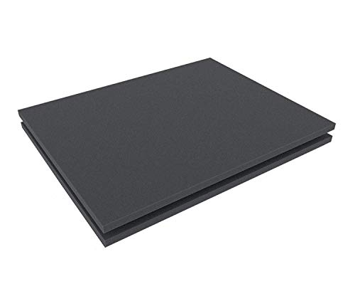 Foglio polietilene espanso Spesso 10 mm Isolante per Imbottitura Schiuma espansa per Protezione imballaggio (30x20 cm (2 Pezzi), Grigio Antracite)