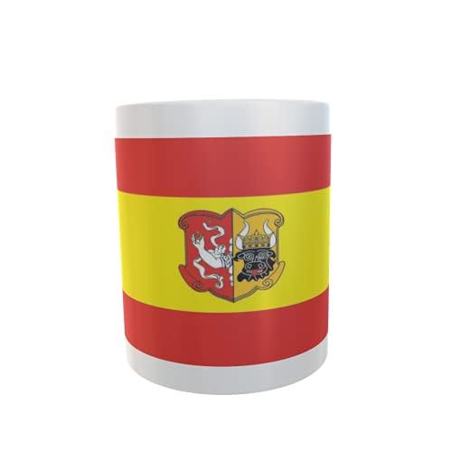 U24 Tasse Kaffeebecher Mug Cup Flagge Neustrelitz