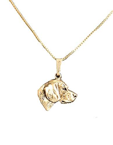 pet-lovers-gifts Kettenanhänger vergoldet Hunde Beagle [k009]