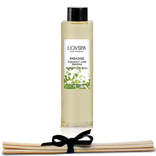 LOVSPA Duftstäbchen für Duftöle, Nachfüllpack, tolle Geschenkidee für Mama, Oma, Nana, Papa oder Tante Paradise Coconut Lime Verbena