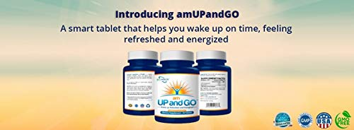 New - Natural Wake Up Aid Supplement – Patented Delayed Release Caffeine Wake Up Pill – Makes Waking Up and Getting Out of Bed a Lot Easier – amUPandGO - (30 Tablets)