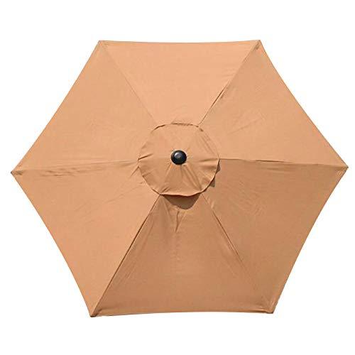 SUREN 3 m Regenschirm-Ersatzdach mit 6 Rippen, Terrassenschirm, Ersatzbezug für den Außenbereich, Marktschirm