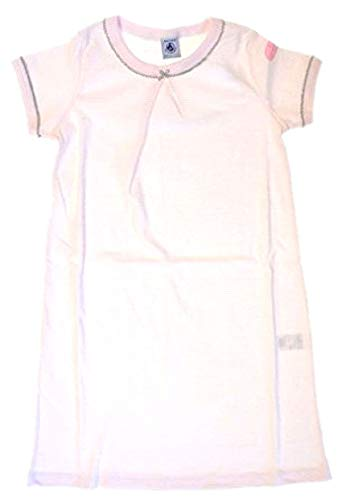 Petit Bateau Mädchen Nachthemd rosa-weiß Ringel 32241 (10-140)