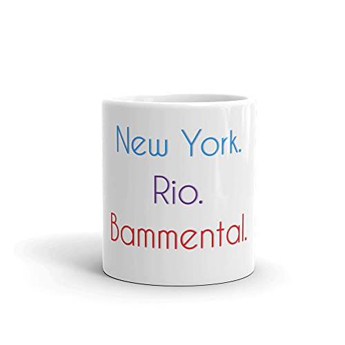 Bammental Becher | Tasse mit lustigem Spruch: New York. Rio. Bammental.