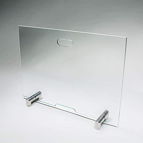 bijon® Funkenschutz Kamin aus Spezial-Sicherheitsglas | Design Hitzeschutz Kamin Funkenschutz Glas Funkenschutzgitter | M2 | HxB 500x700mm