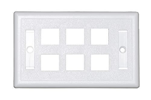 Link LKPLATE6 - Placa Porta Frutas con 6 Posiciones, Color Claro con portaetiquetas.