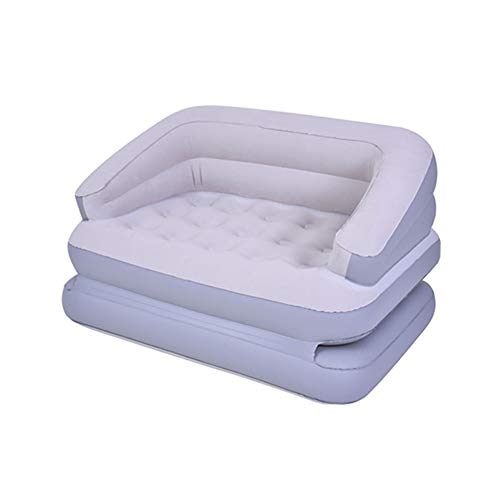 LWLEI 5-in-1 Inflatable Flocked Sofa Bed Inflatable Leisure Sofa Chair Indoor ,with Electric Pumps Comfortable (Color : Gray)