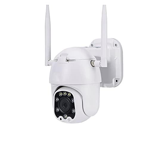 MERSHAO Cámara de Seguridad inalámbrica al Aire Libre, con Pan 320 ° Tilt 110 °, 1080p WiFi Inicio IP Cámara, detección de Movimiento.