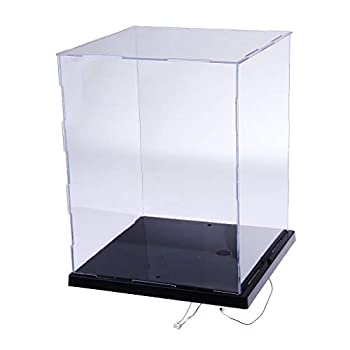 LANSCOERY Clear Acrylic Display Case Assemble Countertop Box Cube Organizer Stand Dustproof Protection Showcase for Action Figures Toys Collectibles  8.5x8.3x10.2 inch  21.5x21x26 cm