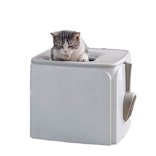 Maisons de toilette pour chats Entièrement Clos litière Boîte, Toilette for Chat Déodorant et Anti-éclaboussures Top Entry