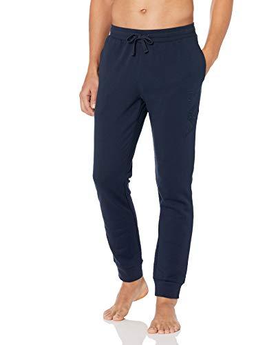 Emporio Armani Trousers Pantalón de Pijama, Azul Marino, XL para Hombre