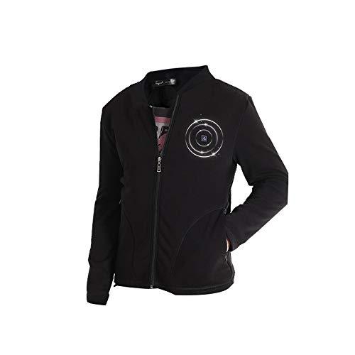 DZX Männer Elektroheizung Kleidung/Thermo Unterwäsche Top, Mit USB-Kabel-für Outdoor-Reisen Camping Bike Skifahren,Black-L
