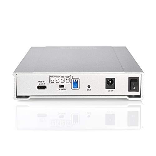 MiniPro RAID V3 USB-C External Dual Bay Drive Enclosure