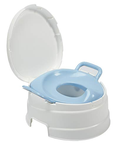 Primo 4-in-1 Complete Toilet Trainer & Step Stool, with Blue Seat,...