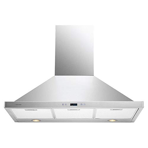 "CAVALIERE 36"" Wall Mounted Stainless Steel Kitchen Range Hood 900 CFM SV218B2-36"