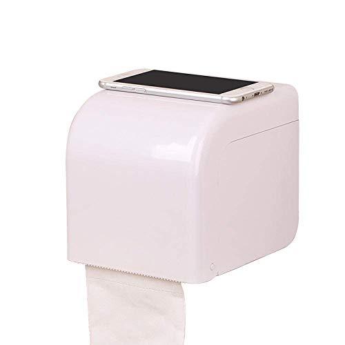 LMHSG Ventosa Taza de succión Impermeable baño pañuelo de pañuelo Titular de Papel higiénico Papel higiénico Bandeja de Papel plástico Rollo de Papel Tubo de Papel Colgando sin punzón Tissue Box