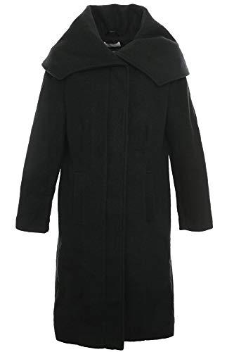 Sheego Mantel Wintermantel Wollmantel Gehrock Jacke Damen Plusgröße Übergröße, Farbe:schwarz, Damengrößen:46
