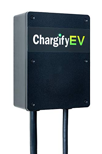 ChargifyEV Electric Car Charging Station Level 2 32A Plug-in Version Offers Fast and Safe Charging Station with 24 Foot Output Cable and Made in USA