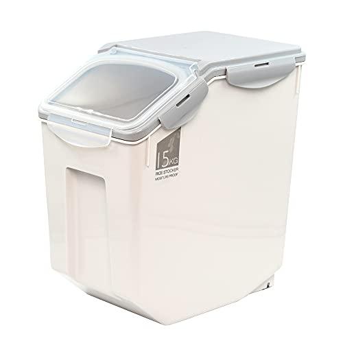 DZL - Futterbehälter für Hunde mit Rädern, Futterbehälter für Haustiere, Lebensmittelbehälter