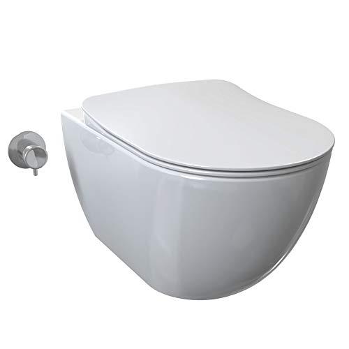 puissant Toilette Tahallet Design Douche murale sans rebord en céramique, Bide Aqua…