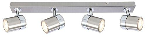 Modern 4Wege Deckenleuchte Spot-, gerade Bar LED-kompatibel satin