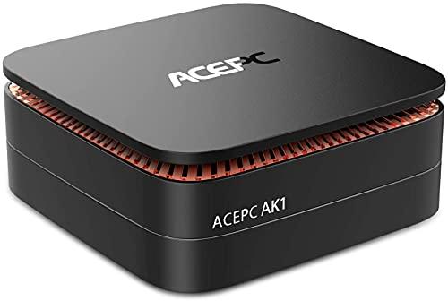 ACEPC AK1 Mini PC, Windows 10 (64-bit) Intel Celeron Apollo Lake J3455 Processor(up to 2.3GHz) Desktop Computer[Support 2.5' SSD/mSATA SSD/2.4G+5G Dual WiFi/Gigabit Ethernet/BT 4.0/4K]