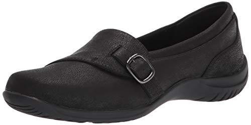 Easy Street womens Flat Sneaker, Black, 9.5 Narrow US