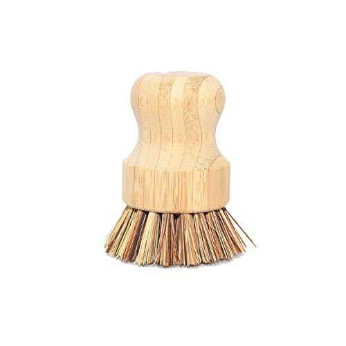 SHENGYANG, rengöringsborste i bambu och porslin, , grytborste, diskmaskinrengöringsborste, lämplig för rengöring av disk, skärbrädor, diskho etc.