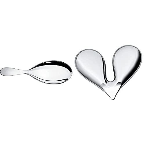 Alessi Eat.It Wa10/27 Cucchiaio Da Cucina Per Risotto Di Design In Acciaio Inox & Nut Splitter Jht01 Schiaccianoci Di Design In Acciaio Inox Lucido