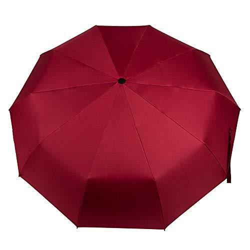 Regenschirme Automatic Umbrella Windbreak 10 Fractured Folded Umbrella Waterproof Für Auto Regen im Freien (Color : Black, Size : Free)