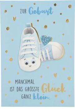 Depesche lustige Klappkarten mit Spruch - Bitte Laecheln - Zur Geburt Manchmal ist das grösste.
